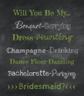 Wedding Wine Label - Will You Be My...