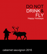Holiday Wine Label - Drink & Fly