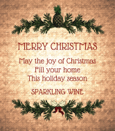 Holiday Wine Label - Rustic