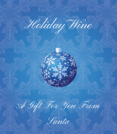 Holiday Wine Label - Blue Christmas