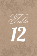 Wedding Table Number Label - Kraft Paper Table Number