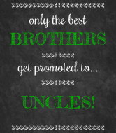 Baby Wine Label - Chalkboard Uncles
