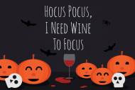 Holiday Mini Wine Label - Hocus Pocus