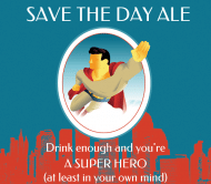 Expressions Beer Label - Super Hero