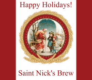 Holiday Beer Label - Saint Nick
