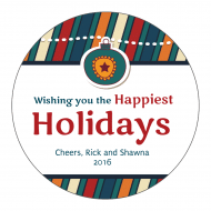 Holiday Sticker - Happiest Holidays