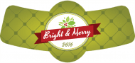 Holiday Bottle Neck Label - Bright and Merry