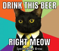 Expressions Beer Label - Business Cat