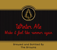 Holiday Beer Label - Winter Ale