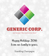 Holiday Champagne Label - Generic Holiday