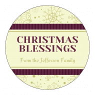 Holiday Sticker - Christmas Blessings