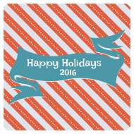 Holiday Drink Coaster - Holiday Banner