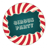 Celebration Sticker - Circus Party