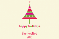 Holiday Mini Wine Label - Family Tree