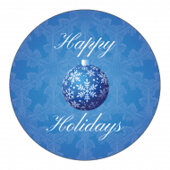 Holiday Sticker - Blue Christmas