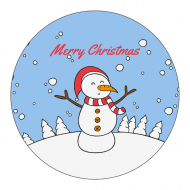 Holiday Sticker - Frosty