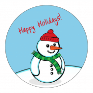 Holiday Sticker - Happy Snowman
