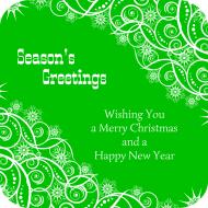 Holiday Drink Coaster - Seasons Greetings