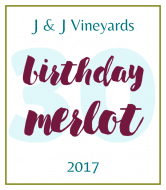 Birthday Wine Label - Birthday Merlot
