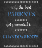 Baby Champagne Label - Chalkboard Grandparents