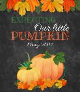 Baby Wine Label - Our Little Pumpkin