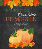 Baby Wine Label - Our Little Pumpkin