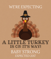 Baby Champagne Label - Little Turkey