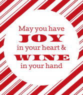 Holiday Wine Label - Wine is Joy