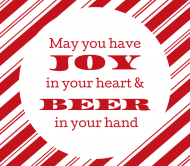 Holiday Beer Label - Beer is Joy