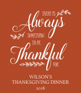 Holiday Champagne Label - Always Thankful