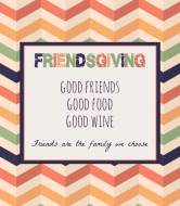 Holiday Wine Label - Friendsgiving