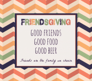 Holiday Beer Label - Friendsgiving