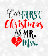 Holiday Wine Label - First Christmas As Mr. & Mrs.
