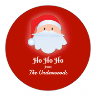 Holiday Sticker - Santa
