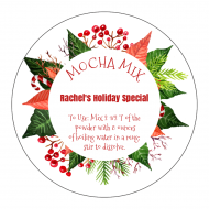 Holiday Sticker - Poinsettia Holiday
