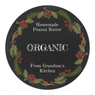 Holiday Canning Label - Nature's Wreath