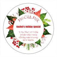 Holiday Canning Label - Poinsettia Holiday