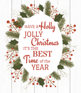 Holiday Wine Label - Holly Jolly