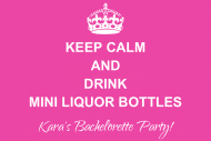Wedding Mini Liquor Label - Keep Calm