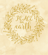 Holiday Wine Label - Peace on Earth