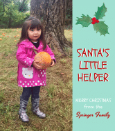 Holiday Wine Label - Santa's Little Helper