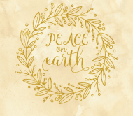 Holiday Beer Label - Peace on Earth