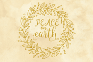 Holiday Mini Wine Label - Peace on Earth