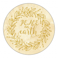 Holiday Sticker - Peace on Earth