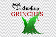 Holiday Mini Wine Label - Drink Up Grinches