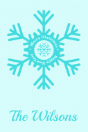 Holiday Food Label - Christmas Snowflake