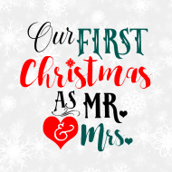 Holiday Mini Wine Label - First Christmas As Mr. & Mrs.