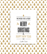 Holiday Wine Label - Gold Trees