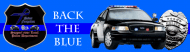 Bumper Sticker - Back The Blue Car