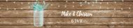 Wedding Water Bottle Label - Rustic Mason Jar